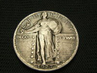 1927 STANDING LIBERTY FINE  90 SILVER EACH ADDITIONAL COIN SHIPS FREE