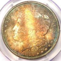 1879-S TONED MORGAN SILVER DOLLAR $1 - CERTIFIED PCGS MINT STATE 65 -  RAINBOW TONING