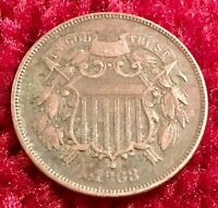 1868 TWO-CENT PIECEVF