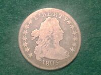 1805 DRAPED BUST DIME      AND BEAUTIFUL COIN