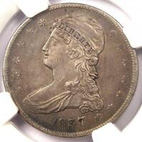 1837 CAPPED BUST HALF DOLLAR 50C   NGC XF45 EF45    CERTIFIED COIN