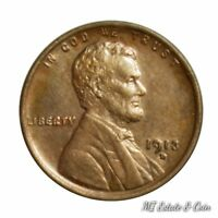 1913 D LINCOLN WHEAT CENT SHARP HIGH GRADE COIN BETTER EARLY YEAR RAW