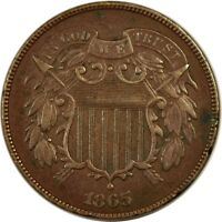 1865 2C SHIELD TWO CENT XF  K2452