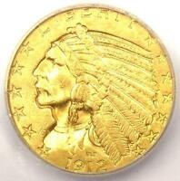 1912 INDIAN GOLD HALF EAGLE $5 COIN   CERTIFIED ICG MS64   $2 560 VALUE