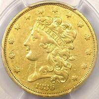1835 CLASSIC GOLD HALF EAGLE $5   PCGS XF DETAIL    EF CERTIFIED GOLD COIN