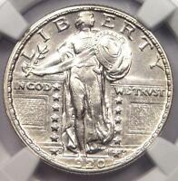 1920 S STANDING LIBERTY QUARTER 25C COIN   NGC AU DETAILS    DATE