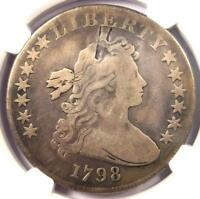 1798 DRAPED BUST SILVER DOLLAR $1 10 ARROWS - NGC VG DETAILS -  COIN