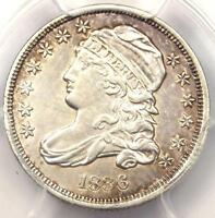 1836 CAPPED BUST DIME 10C JR-1 - PCGS AU DETAIL -  EARLY DATE CERTIFIED COIN
