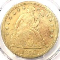 1850-O SEATED LIBERTY SILVER DOLLAR $1 - PCGS UNCIRCULATED DETAILS UNC MS