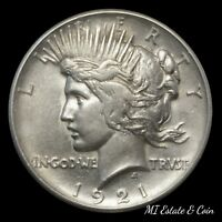 1921 PEACE DOLLAR KEY DATE COIN  SILVER $1 HIGH RELIEF