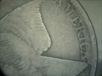 VF 1857 FLYING EAGLE CENT SNOW 9 FS-402 CLASH WITH LIBERTY SEATED HALF10-31-01