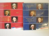 2007- P & 2007- D  PRESIDENTIAL $1. UNCIRCULATED 4 COIN SETS. MINT SEALED