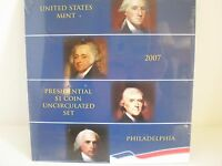 2007- P  PRESIDENTIAL $1. UNCIRCULATED 4 COIN SET. MINT SEALED