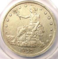 1877 TRADE SILVER DOLLAR T$1 - ANACS EXTRA FINE 45 DETAILS EF45 -  CERTIFIED COIN