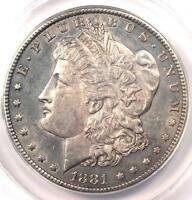 1881-CC MORGAN SILVER DOLLAR $1 COIN - CERTIFIED ANACS MINT STATE 60 DETAILS UNC MS BU