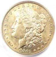 1901 MORGAN SILVER DOLLAR $1 1901-P - ANACS MINT STATE 60 DETAILS UNC -  IN UNC