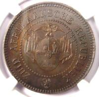 1874 SOUTH AFRICA ZAR PATTERN PENNY 1D - NGC MINT STATE 63 -  CERTIFIED COIN