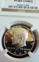 1969-S KENNEDY HALF NGC PF 68 STAR CAMEO-REAL PHOTOS TO LOOK AT