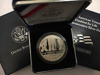 2010 AMERICAN VETERANS DISABLED FOR LIFE COMMEMORATIVE PROOF SILVER DOLLAR