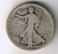 1917 P WALKING LIBERTY 90  SILVER HALF DOLLAR 50 CENT COIN WORLD WAR ONE RELIC