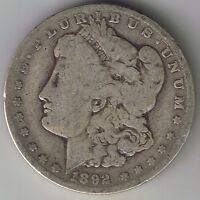 1892 O MORGAN SILVER DOLLAR LIBERTY HEAD $1 LIBERTY HEAD ONE COIN