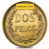 2 PESOS MEXICAN GOLD COIN  RANDOM YEAR
