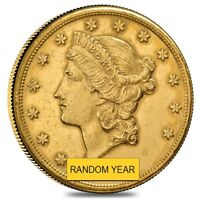 $20 GOLD DOUBLE EAGLE LIBERTY HEAD   POLISHED OR CLEANED  RANDOM YEAR