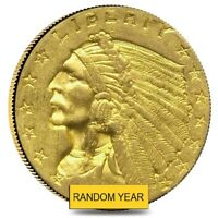 $2.5 GOLD QUARTER EAGLE INDIAN HEAD   POLISHED OR CLEANED  RANDOM YEAR