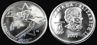 CANADA 25 CENT 2007 UNC 2010 VANCOUVER OLYMPIC MS COLLECTOR COIN   ALPINE SKI