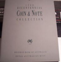 BU 1988 BICENTENNIAL COIN AND NOTE COLLECTION/3 COINS/3 NOTE