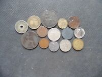 WORLD COINS. 15 PIECES  STARTING WITH 1859 .LOT A 77