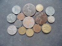 WORLD COINS. 15 PIECES  STARTING WITH 1892 .LOT A 78