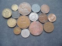 WORLD COINS. 15 PIECES  STARTING WITH 1904 .LOT A 80