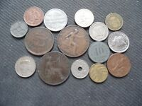 WORLD COINS. 15 PIECES  STARTING WITH 1897 .LOT A 84