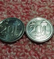 SINGAPORE MAGNETIC 20 CENTS 2013 2014 CHANGI AIRPORT ATC TOW