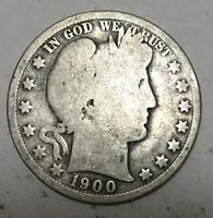 1900 O BARBER HALF DOLLAR   50C   US 90  SILVER COIN