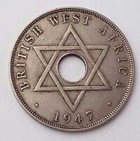 DATED : 1947   KING GEORGE VI   BRITISH WEST AFRICA   ONE PENNY COIN