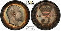 1907 MAUNDY COIN SET PCGS GRADED COINS