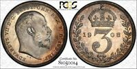 1908 MAUNDY COIN SET PCGS GRADED COINS