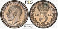 1911 MAUNDY COIN SET PCGS GRADED COINS
