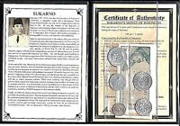SUKARNO INDONESIA SET OF 5 COINS AND 5 BANKNOTES  ALBUM STOR