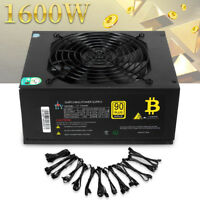 1600W 90  FULLY MODULAR MINING POWER SUPPLY FOR BITCOIN ANTMINER A7 S7 S9 L3
