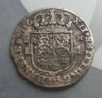 SCHLESWIG 1716 12 SHILLING SILVER COIN