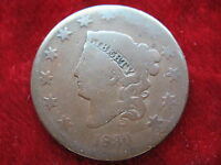 1830 CORONET U.S. LARGE CENT HAS CLEAR DATE  HISTORIC COIN  CIRCULATED UNGRADED.