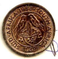 1956 SOUTH AFRICA 1/4 D FARTHING UNC. BIRDS
