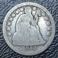 1852 USA - ONE DIME - .900 SILVER - SEATED LIBERTY -
