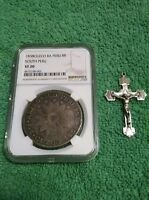 1838 CUZCO SOUTH PERU SILVER 8 REALES NGC VF 20.  FREE SILVER CROSS TO WINNER.