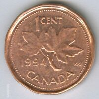 CANADA     1994  CANADIAN   1 CENT COIN MONEY   NO.2