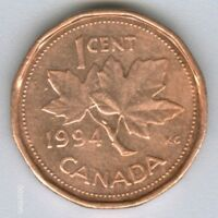 CANADA     1994  CANADIAN   1 CENT COIN MONEY   NO.1