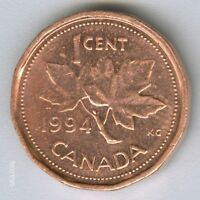 CANADA     1994  CANADIAN   1 CENT COIN MONEY   NO.3